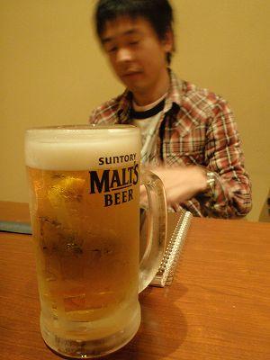 うるちやでのしげちゃんとビール