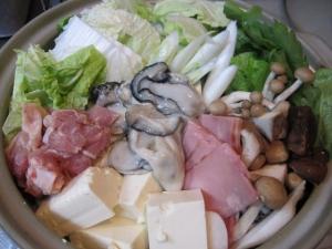 よしの味噌 牡蠣ベーコン鶏よせ鍋