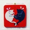 シカク「白猫・黒猫02」