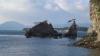 しめ縄を架ける前の金輪島