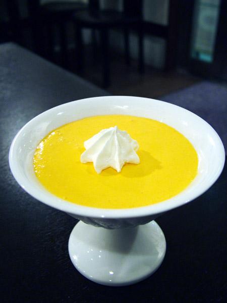 黄金桃のムース