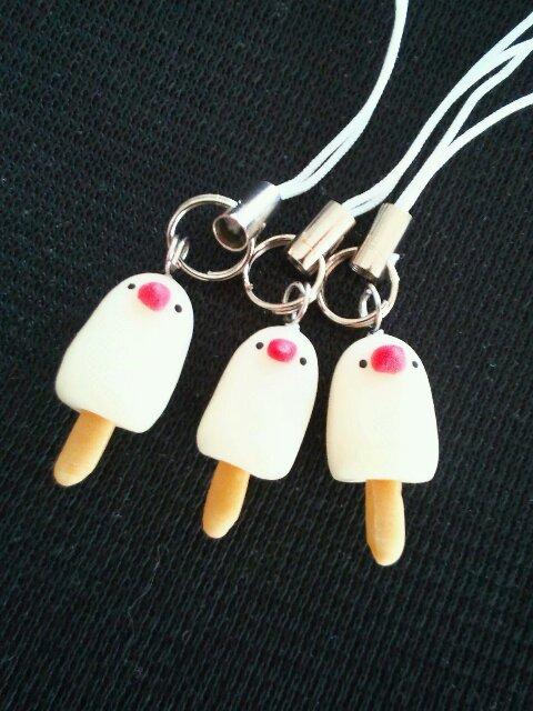 アイスキャンディ文鳥