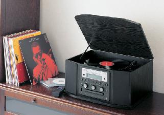 ターンテーブル付CDレコーダー&ラジオ