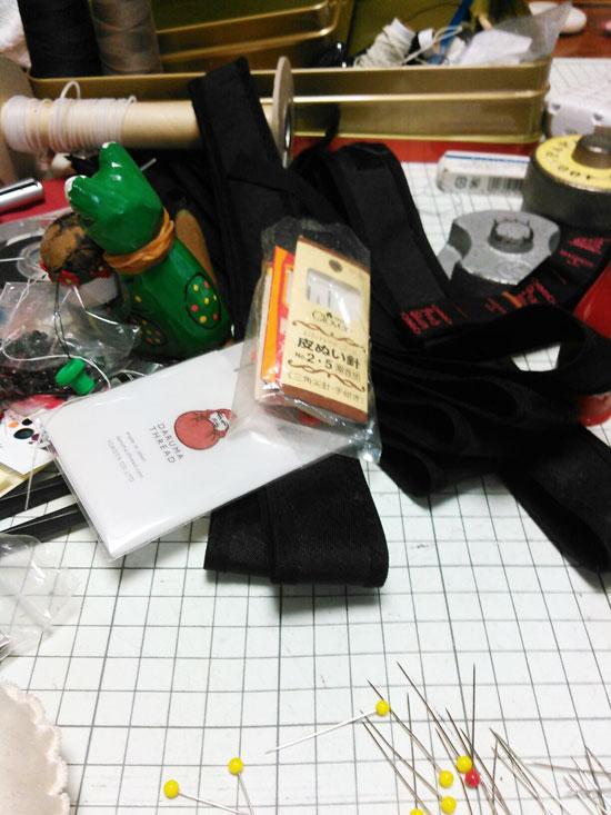 帽子作りの道具