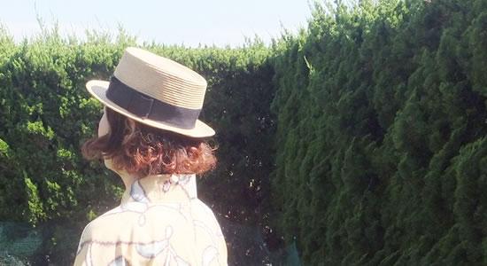 浴衣と帽子