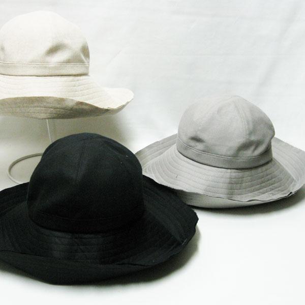 つば広帽子日よけに旅行に