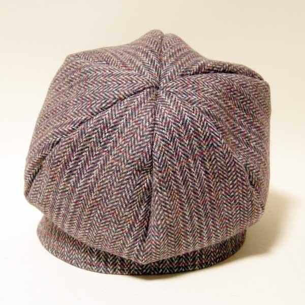 【カスタムオーダー例】前後にバイザーのついた小顔効果抜群の帽子(バックル付ダブルブリムキャスケット)