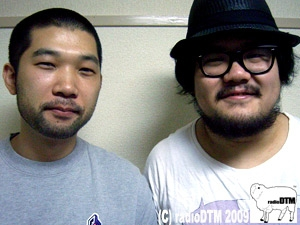 ゲストのsyn nakamuraさんと社長のツーショット