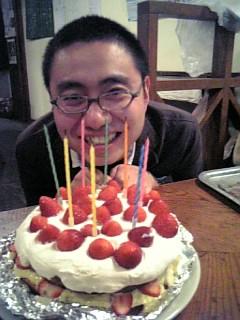 ケーキで笑顔