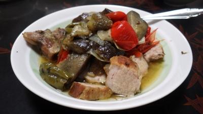 豚肉と夏野菜のラタトゥーユ風
