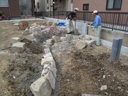 石積み指導