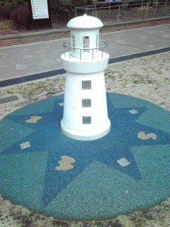 横浜公園灯台オブジェ