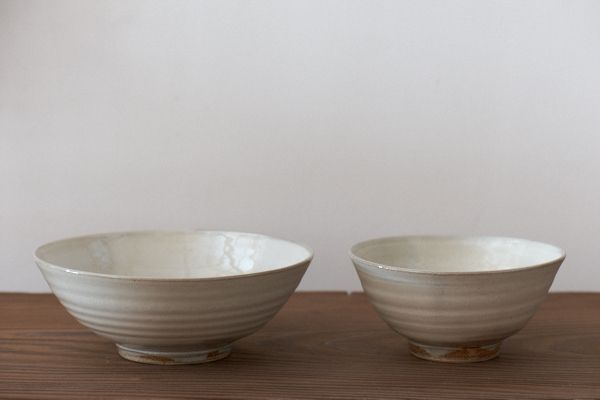 白化粧鉢と碗