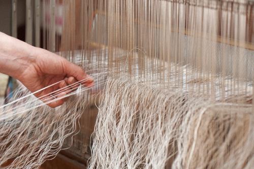 麻単糸のショール