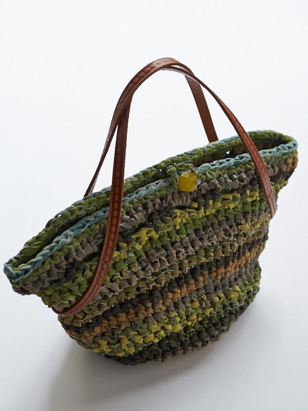 革紐編みバッグ