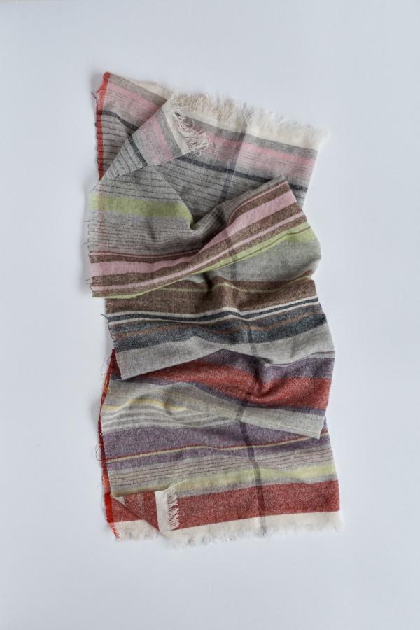 カシミヤ単糸の布