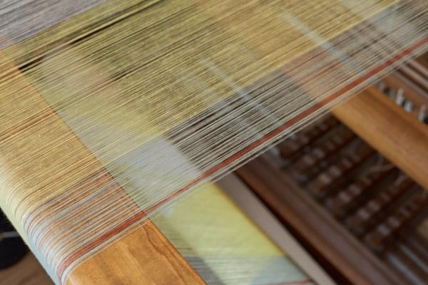 綿麻混紡糸のストール