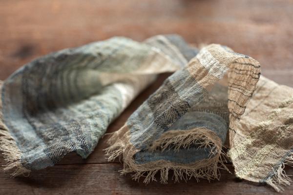 竹と木綿の四角い布