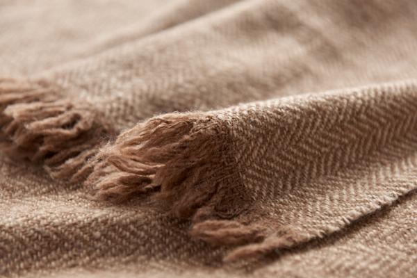 手紡ぎウールのストール