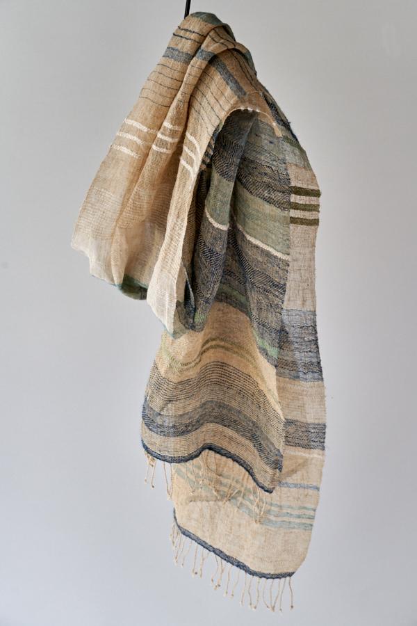 竹と木綿の混紡糸ストール