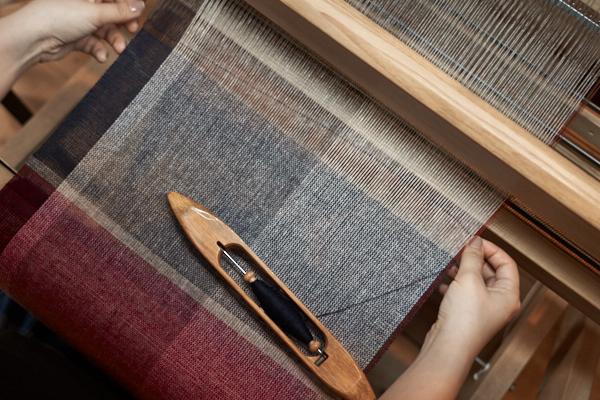 カシミヤ単糸のマフラー