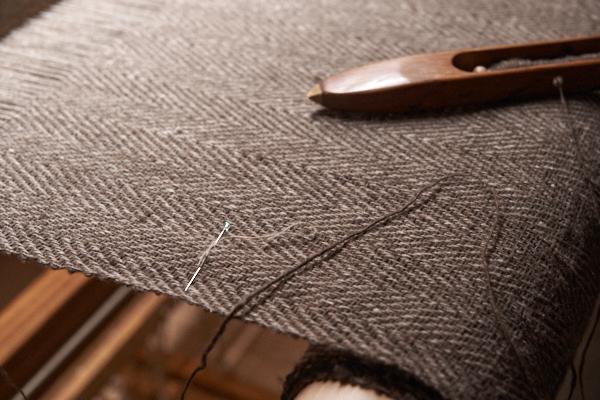 手紡ぎヤクのストール