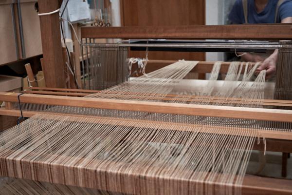 木綿と竹のストール