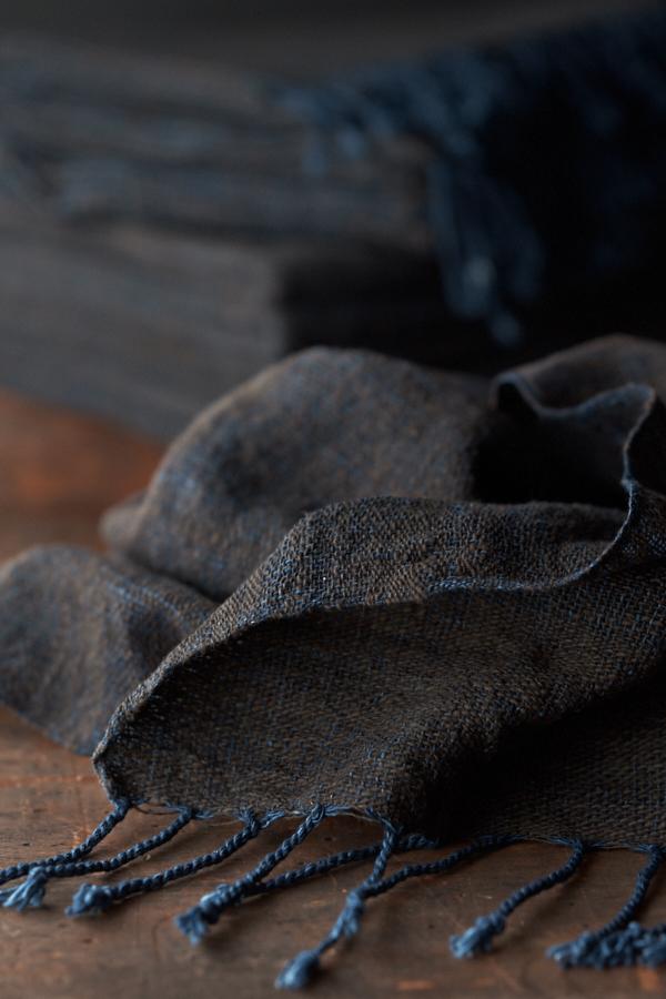 手紡ぎ木綿のストール