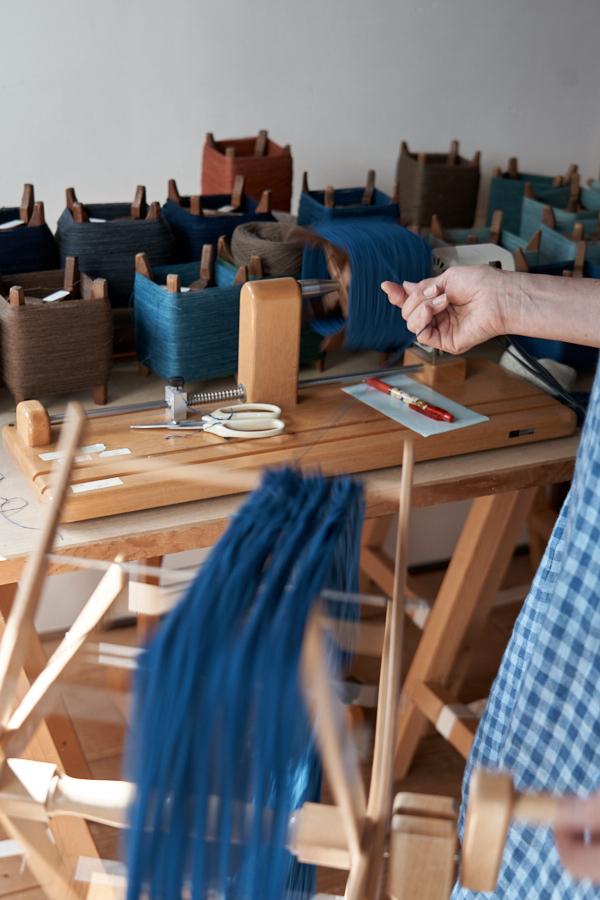 草木染め手紡ぎ木綿