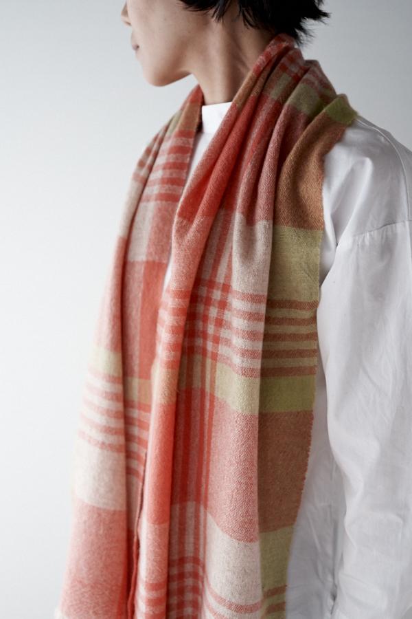 カシミヤ単糸のスカーフ