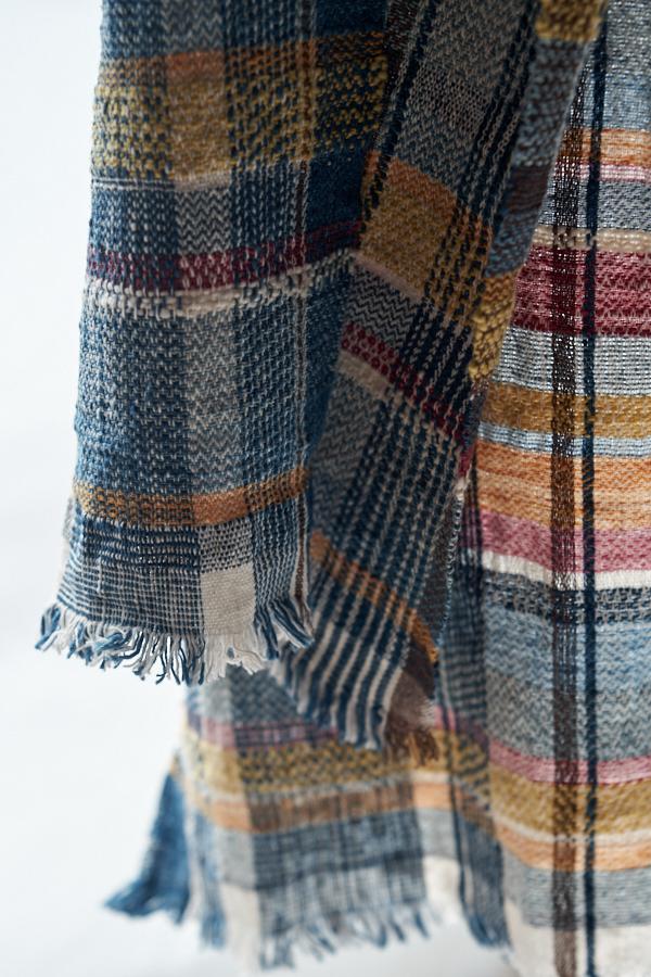 手紡ぎ木綿の布