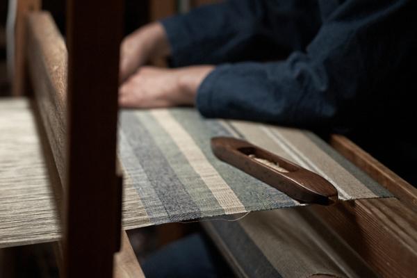 竹と木綿のストール