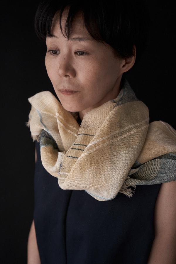 竹と木綿のスカーフ