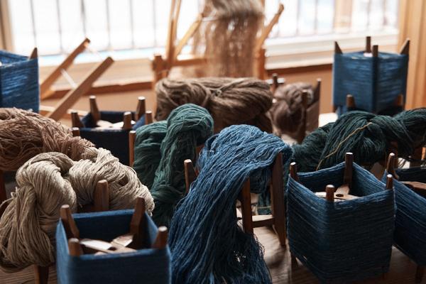 草木染め木綿糸