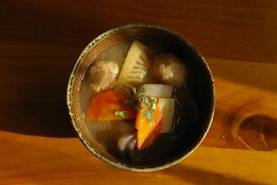 白味噌+丸餅餡入り