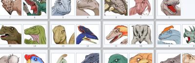 恐竜スタンプ