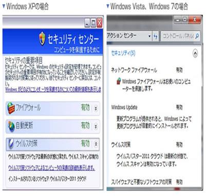 windows7セキュリティ画面