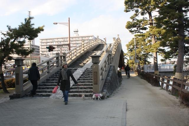 草加松原の「矢立橋」「百代橋」
