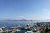 ] 準備作業が中止された日に、祝島から現場海域と建設計画地を望む