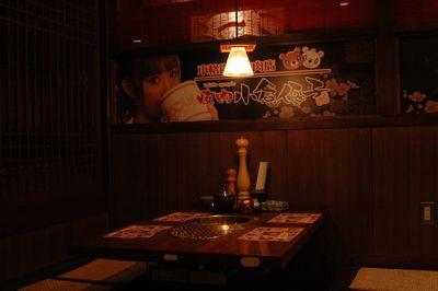 焼肉小倉優子店内の様子