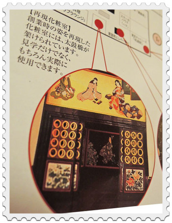 目黒雅叙園の再現化粧室(案内図)