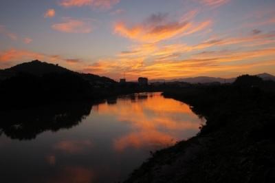 黒瀬菅田からの朝の風景