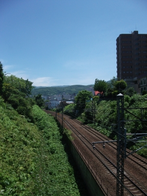 Railway tracks in Otaru