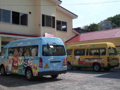 japanese children school buses?