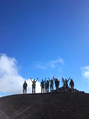 小富士山頂シルエット