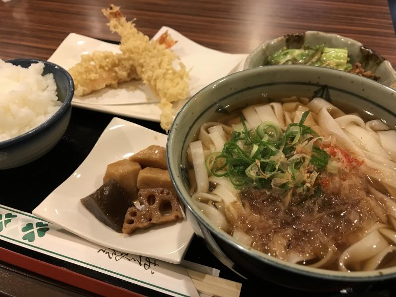 天ぷらきしめん定食