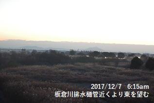 板倉川排水樋管近くより東を望む