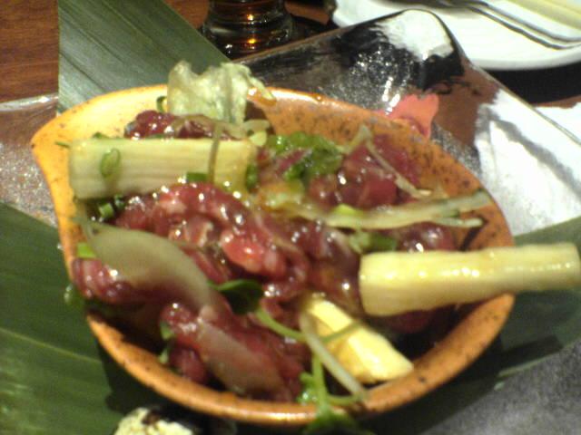 牛肉ユッケと山芋