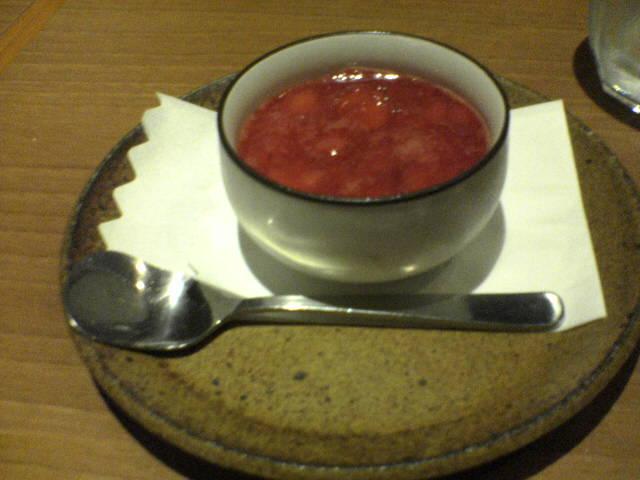 苺のパンナコッタ(300円)