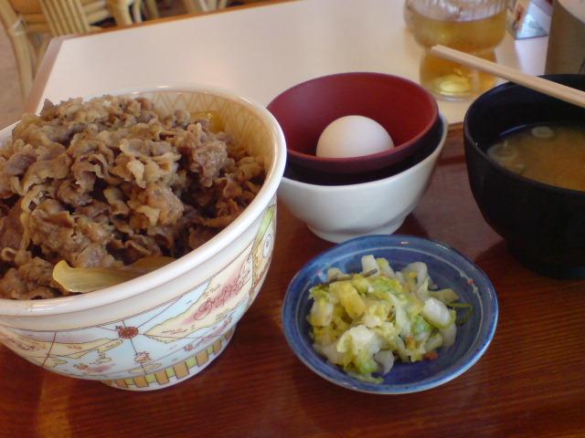 メガ牛丼 おしんこセット(750円)